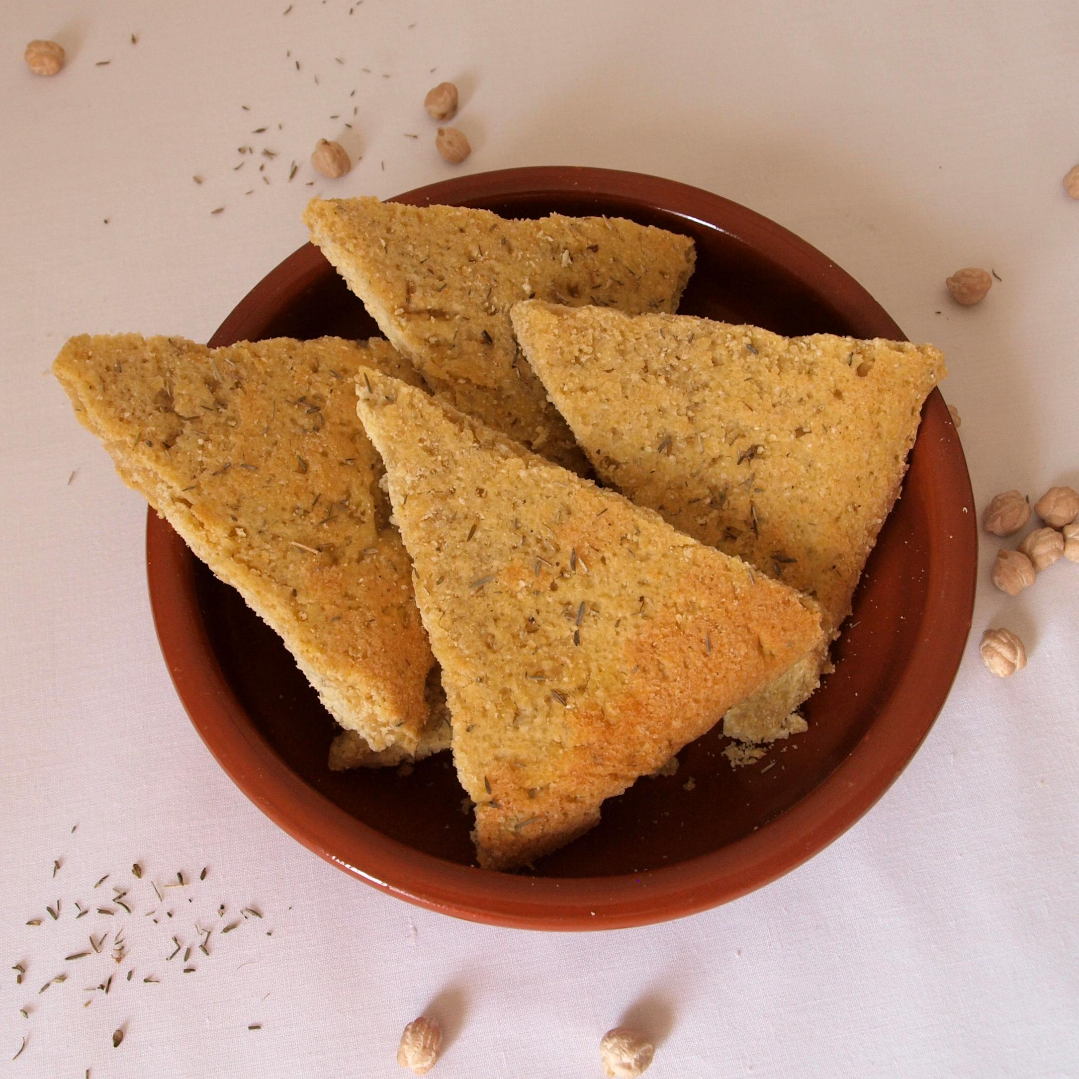 Receta vegana de pan de garbanzos