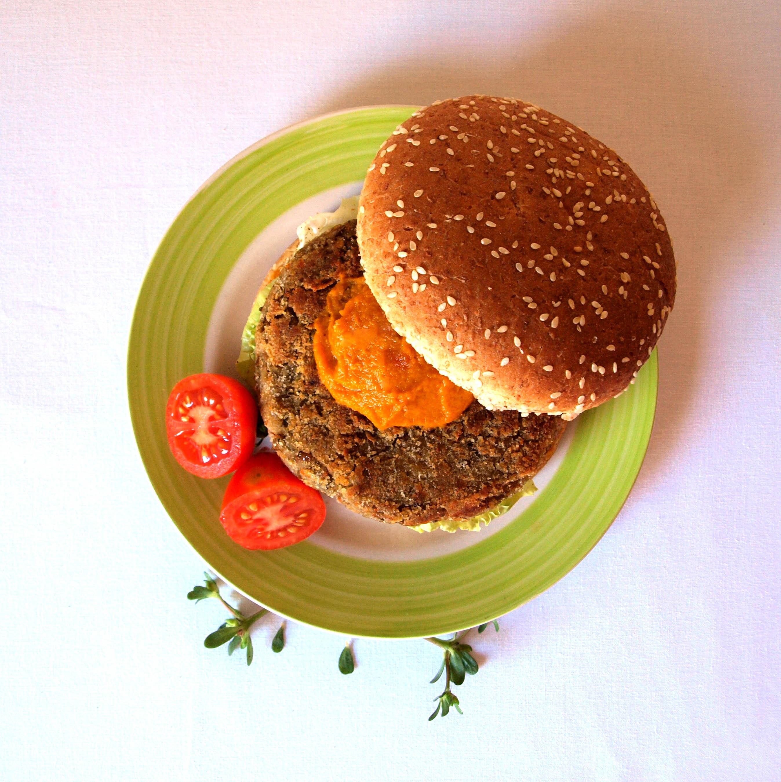 Receta vegana de hamburguesa de lentejas