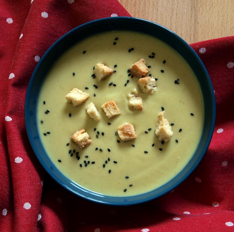 Receta vegetariana de crema de calabacín