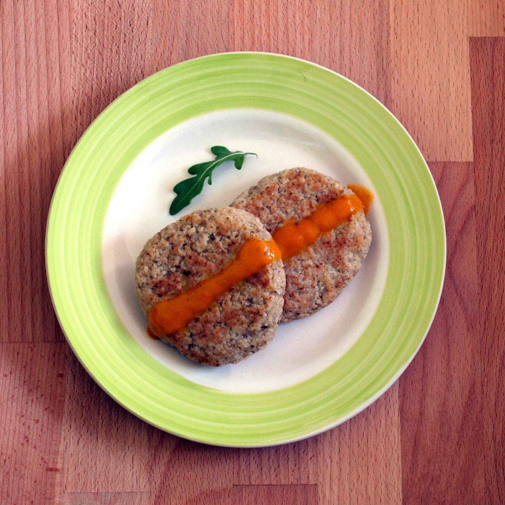 Receta de hamburguesas veganas de arroz con setas