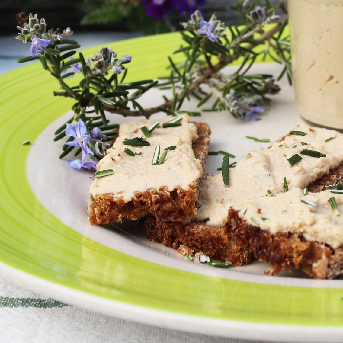 Paté de tofu con romero