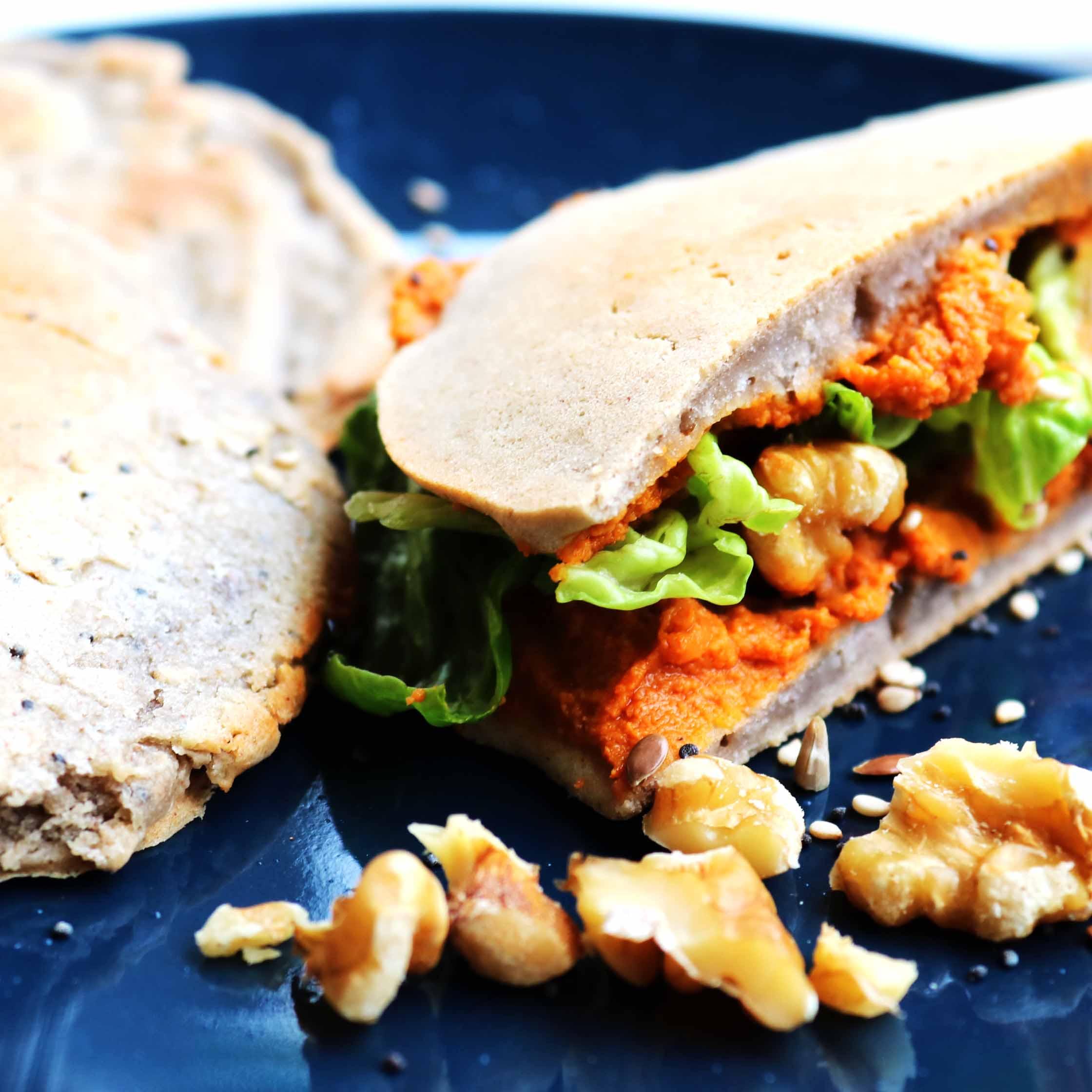 Receta de pan plano de sarraceno sin gluten