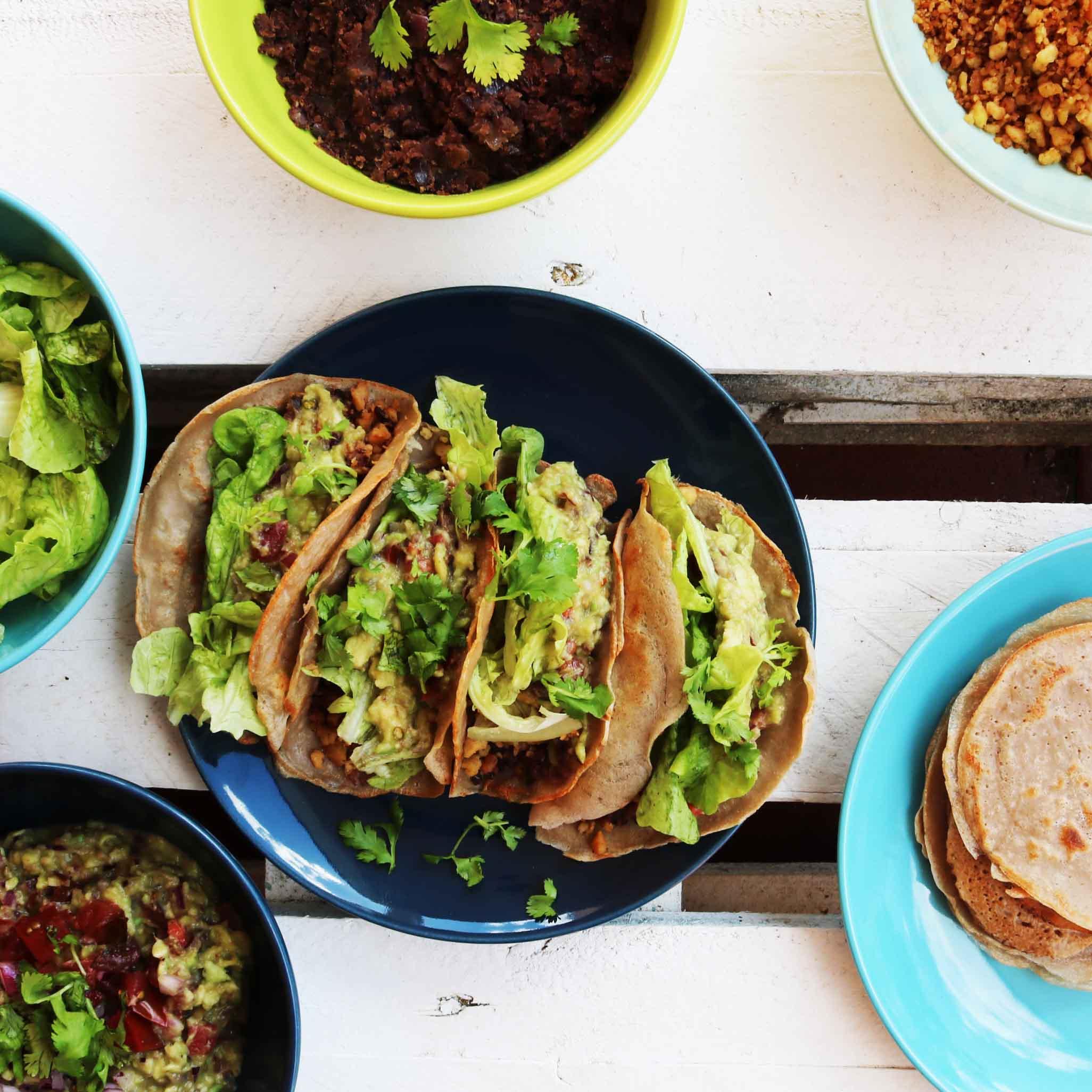 Receta de tacos mejicanos veganos sin gluten