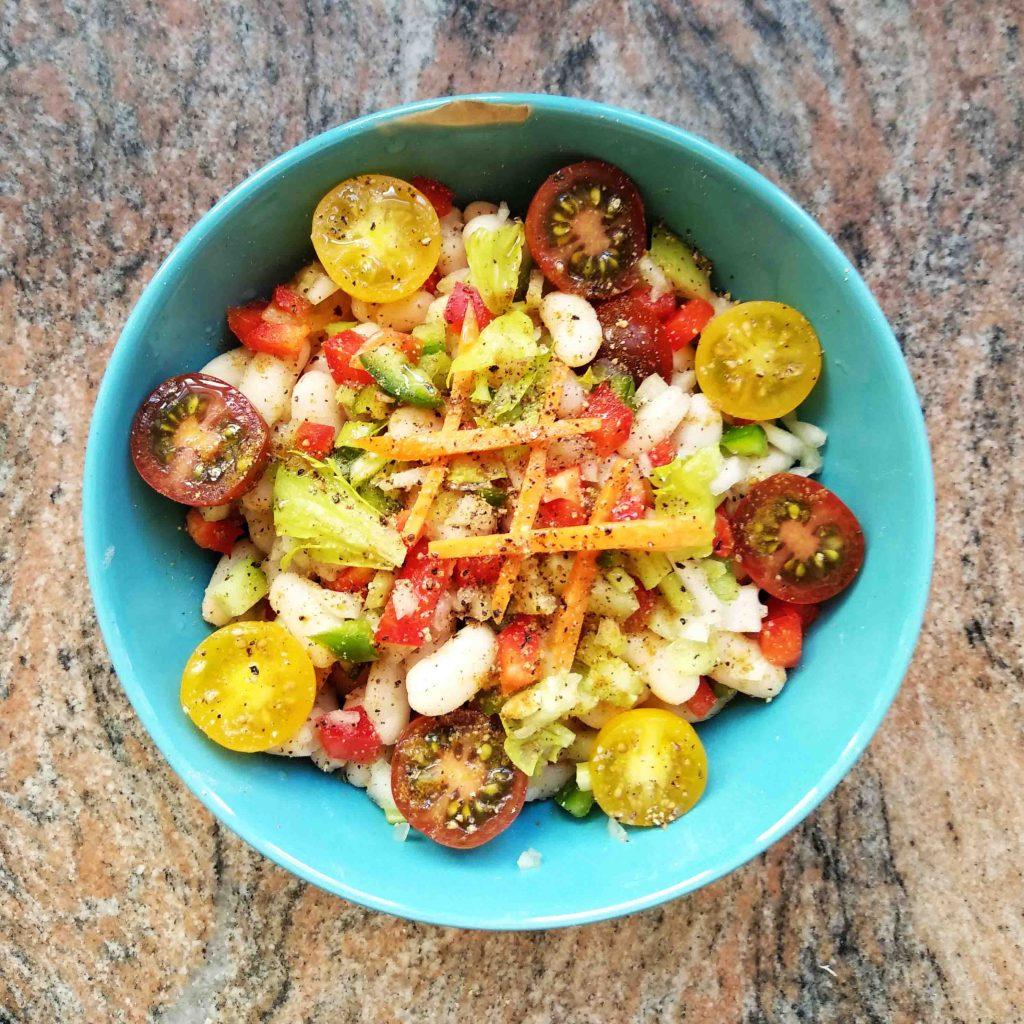 Receta vegana de ensalada de alubias
